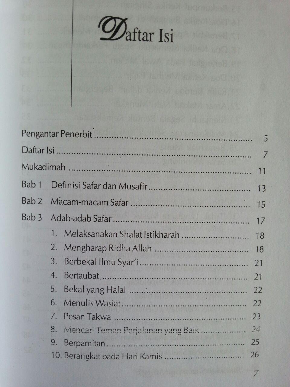 Buku Adab Safar Perjalanan Penuh Berkah isi 2