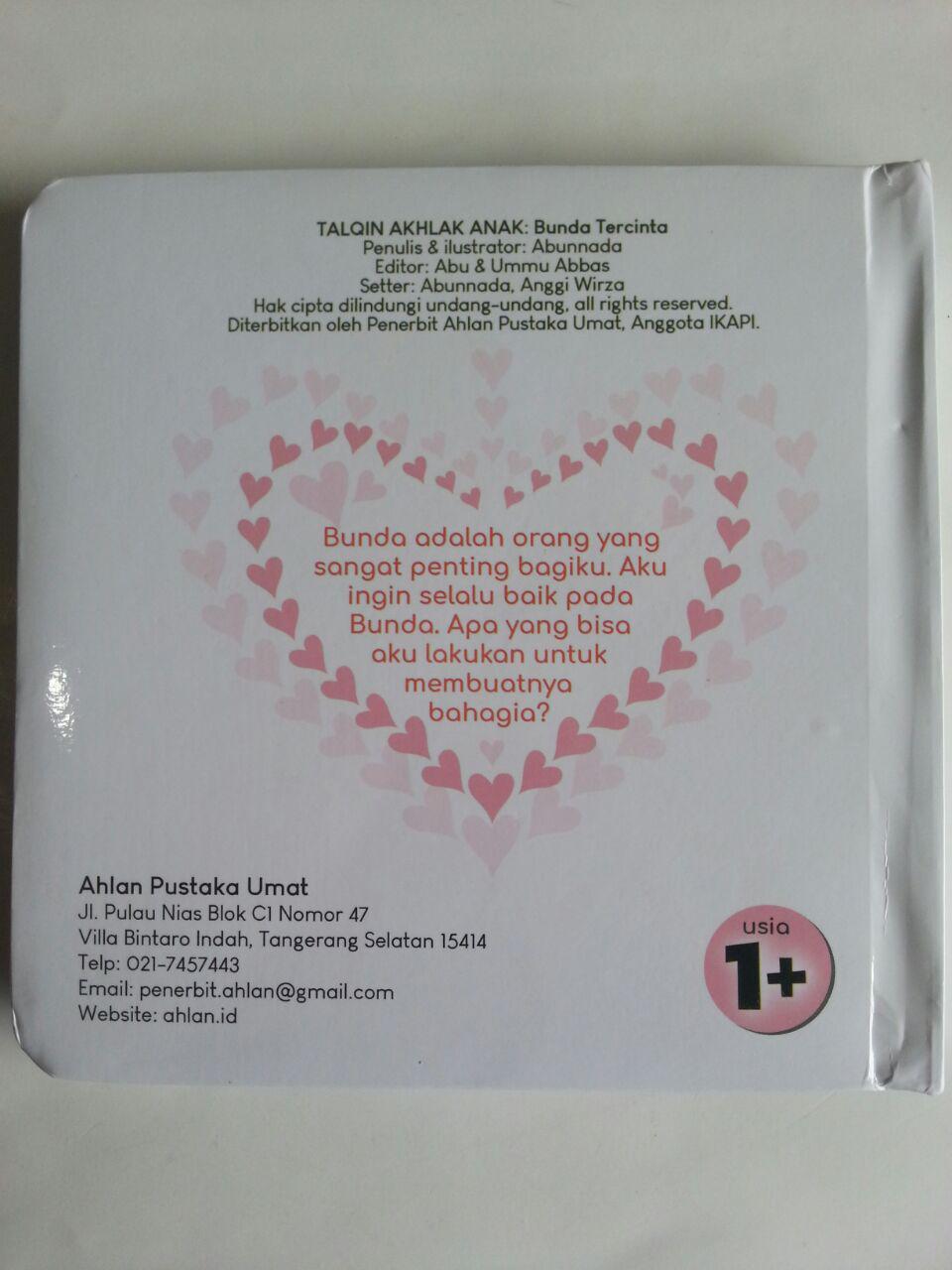 Buku Anak Talqin Akhlak Anak Bunda Tercinta cover