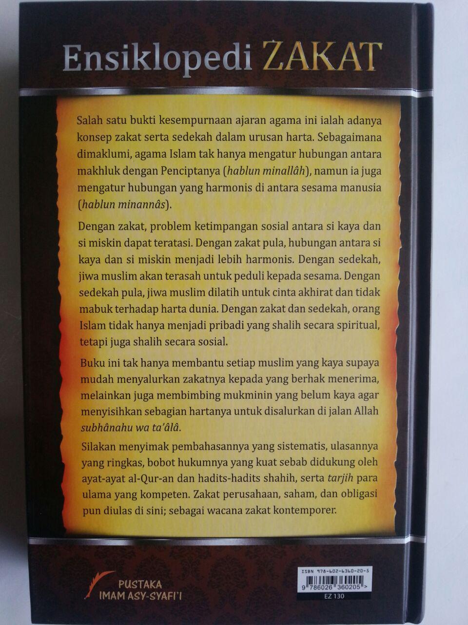 Buku Ensiklopedi Zakat Mencakup Zakat Mal Perusahaan Fitrah cover