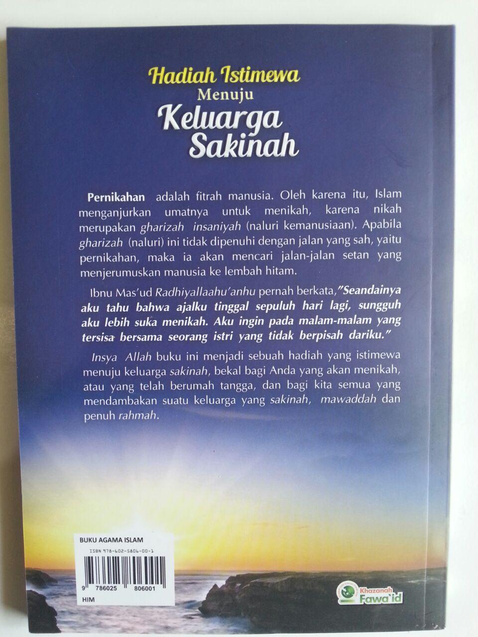 Buku Hadiah Istimewa Menuju Keluarga Sakinah cover