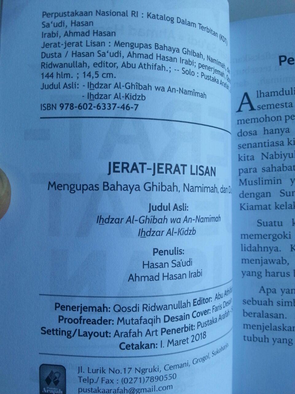 Buku Jerat-Jerat Lisan Lisan Mengupas Bahaya Ghibah Namimah isi 2