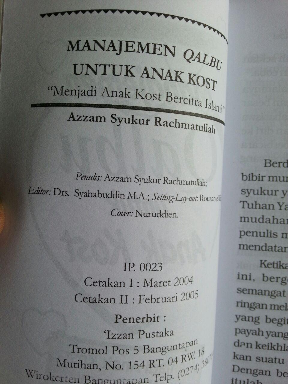 Buku Manajemen Qalbu Untuk Anak Kost Menjadi Bercitra Islami isi 2