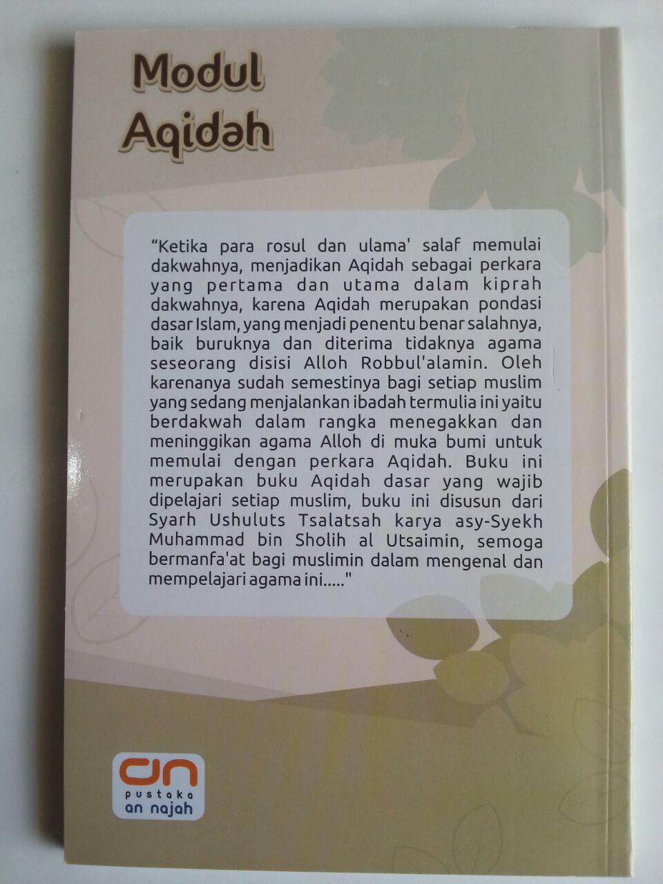 Buku Modul Aqidah Buku Pegangan Pengajaran Anak Islam cover