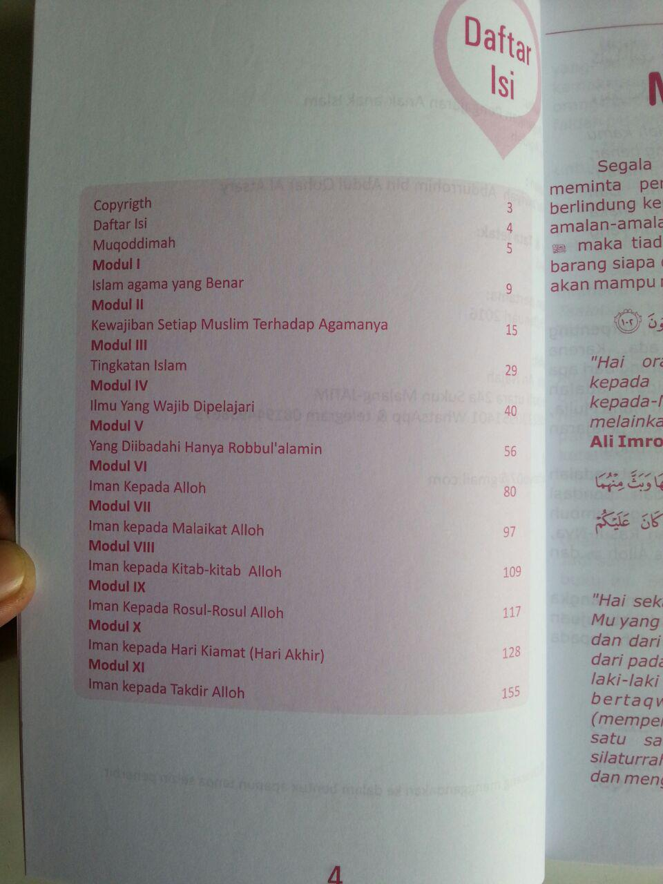 Buku Modul Aqidah Buku Pegangan Pengajaran Anak Islam isi
