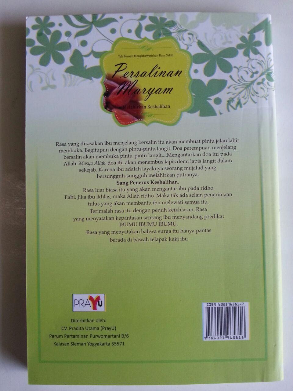 Buku Persalinan Maryam Tak Mengkhawatirkan Sakit Melahirkan Keshalihan cover