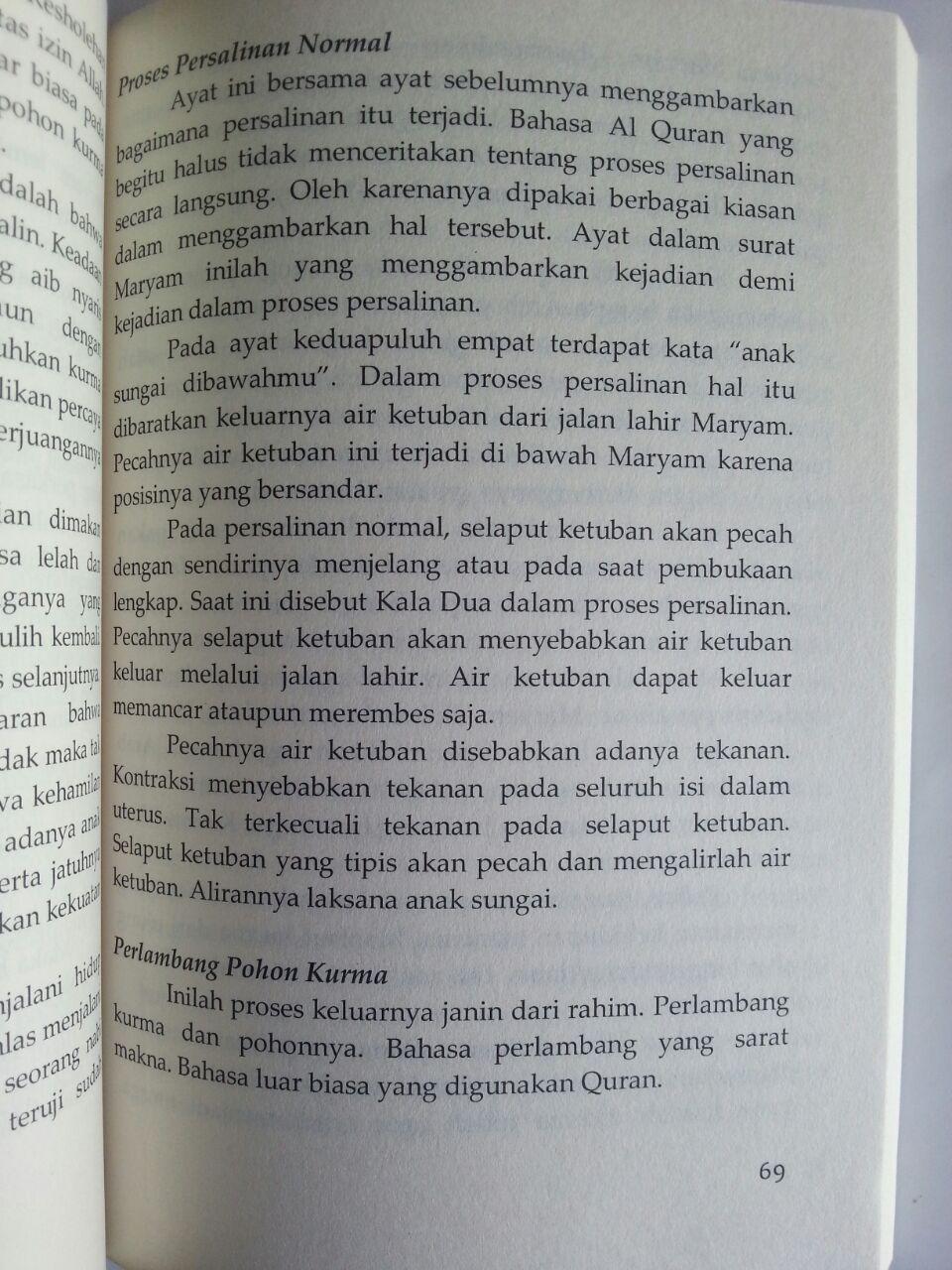 Buku Persalinan Maryam Tak Mengkhawatirkan Sakit Melahirkan Keshalihan isi 3