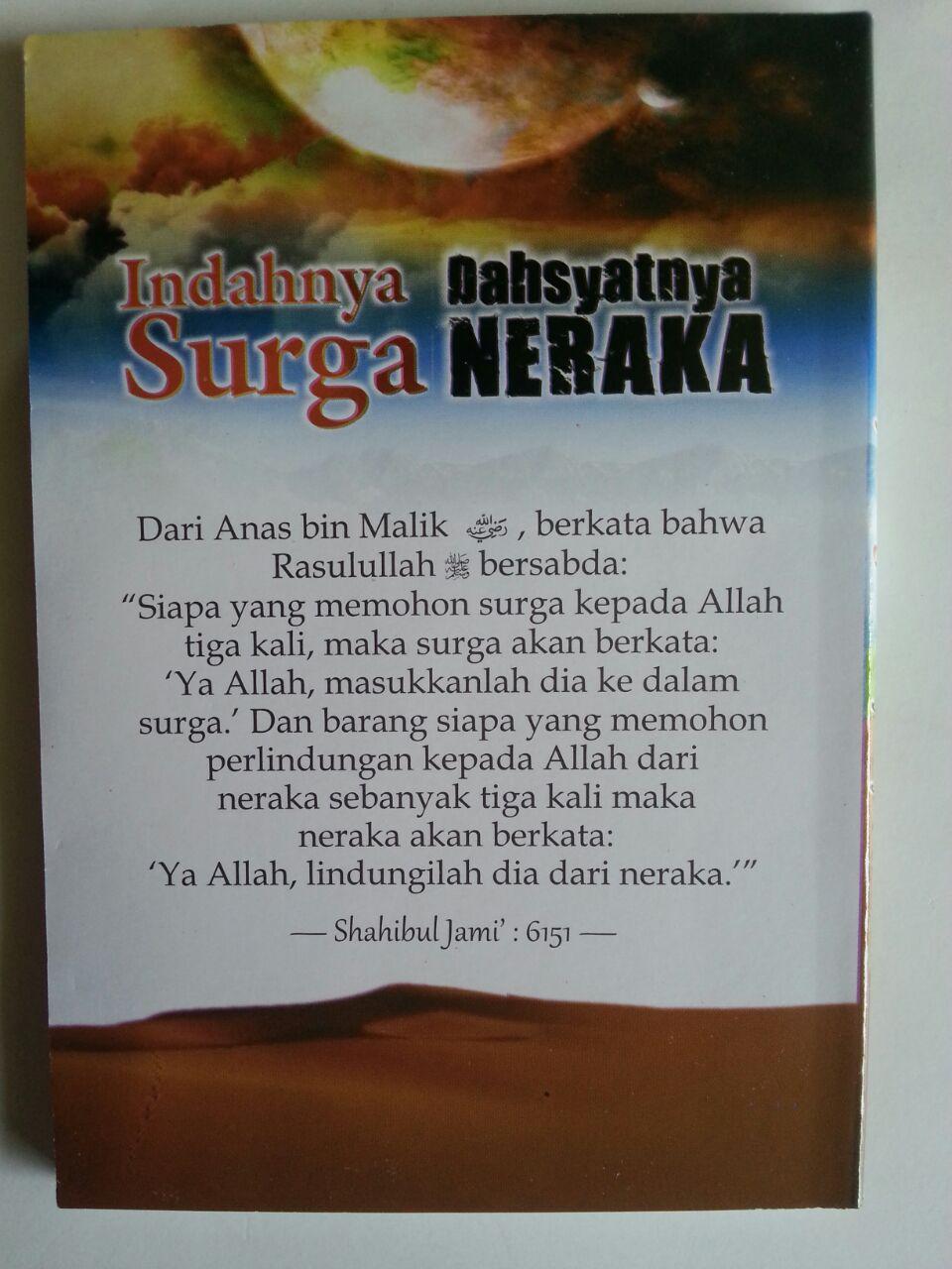 Buku Saku Indahnya Surga Dahsyatnya Neraka cover