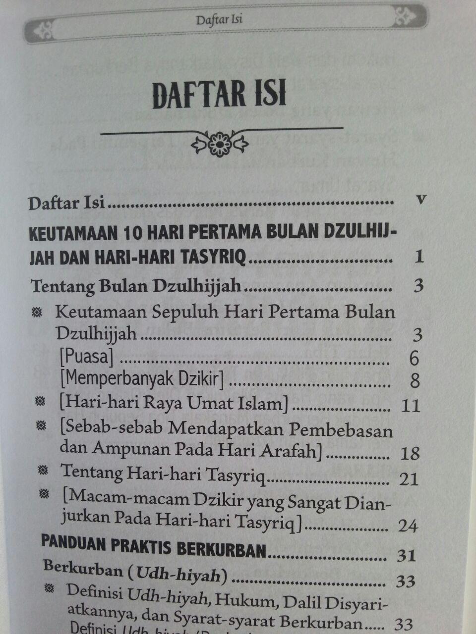 Buku Saku Keutamaan 10 Hari Pertama Bulan Dzulhijjah Tasyriq Kurban isi 2