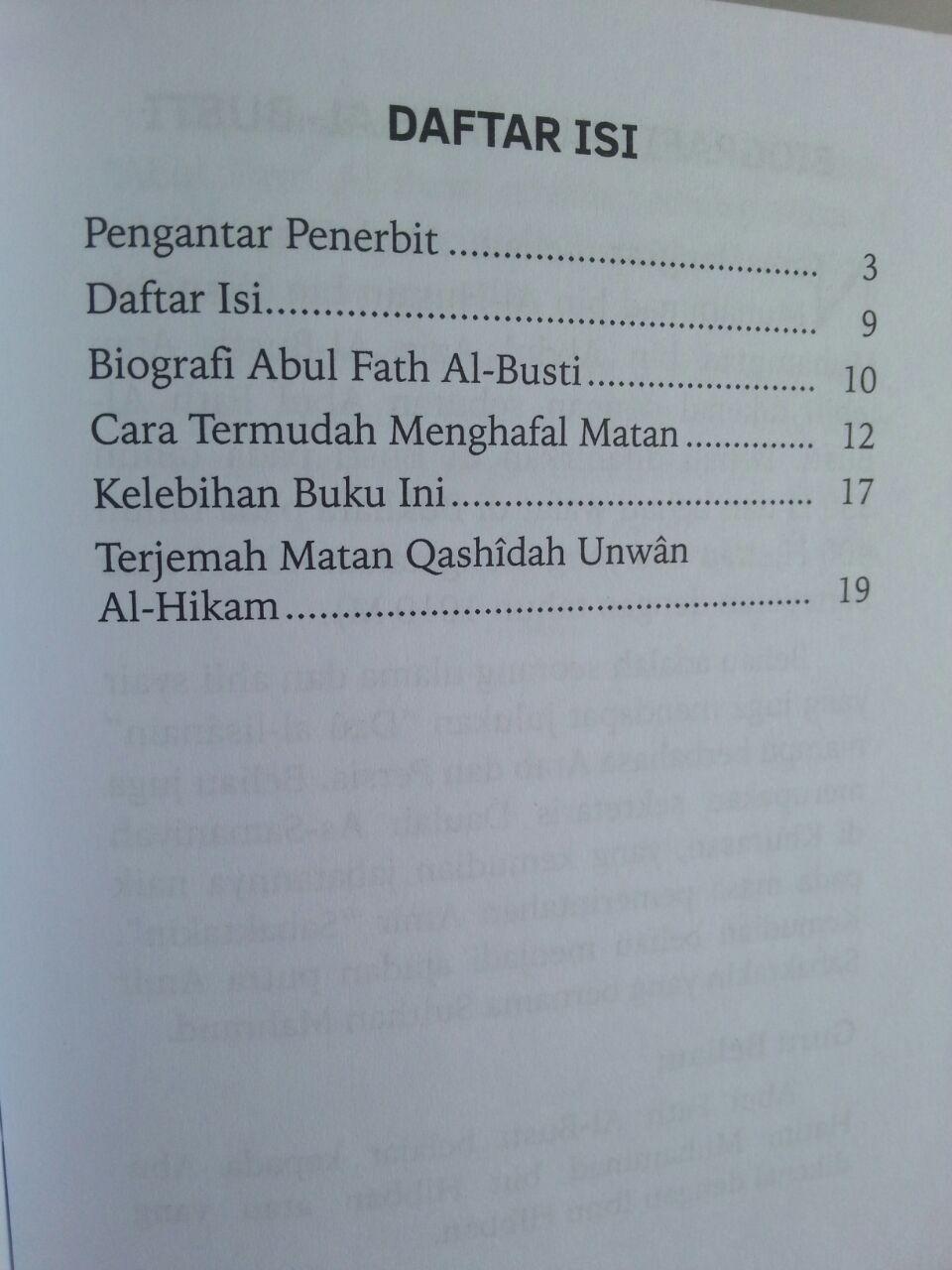 Buku Saku Qashidah Unwanul Hikam Syair Pokok Hikmah Adab isi