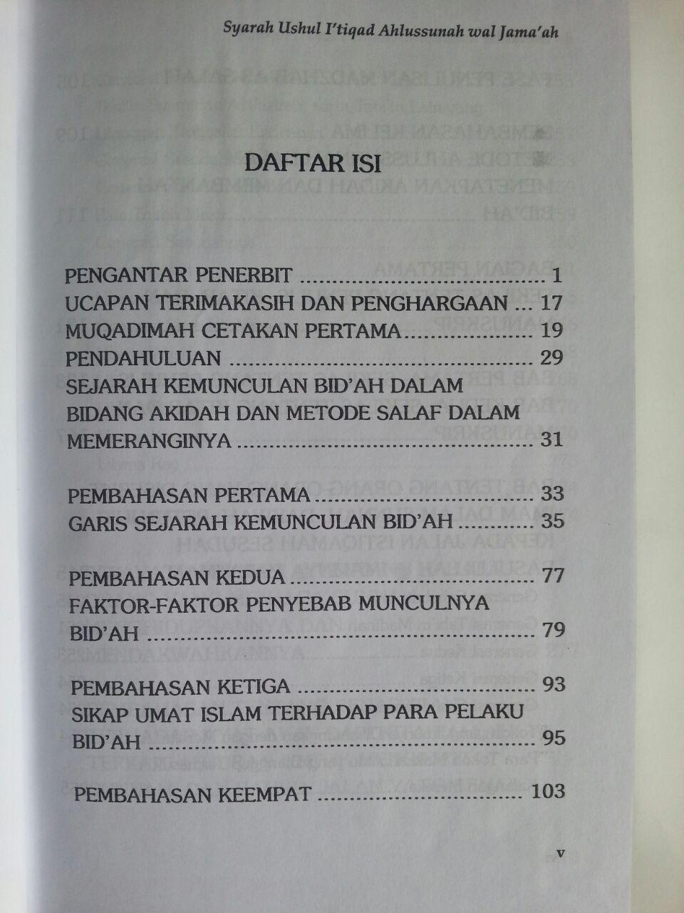 Buku Syarah Ushul I'tiqad Ahlussunnah Wal Jama'ah Set 8 Jilid 1 isi 2