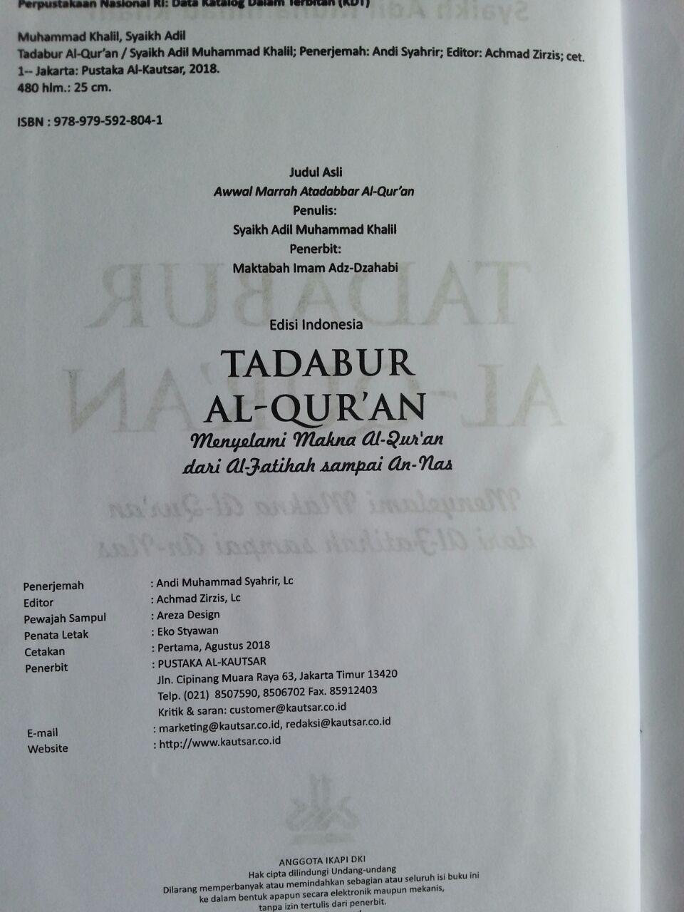 Buku Tadabur Al-Qur'an Menyelami Makna Al-Quran Lengkap isi 2