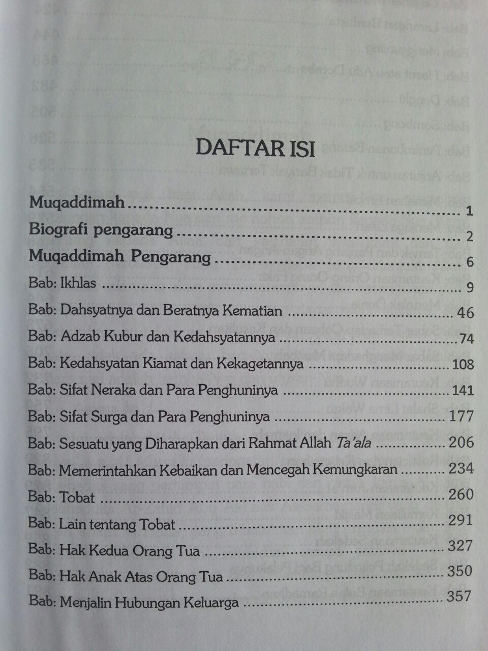 Buku Tanbihul Ghafilin Peringatan Nasihat Bagi Orang Lalai 1 isi 2