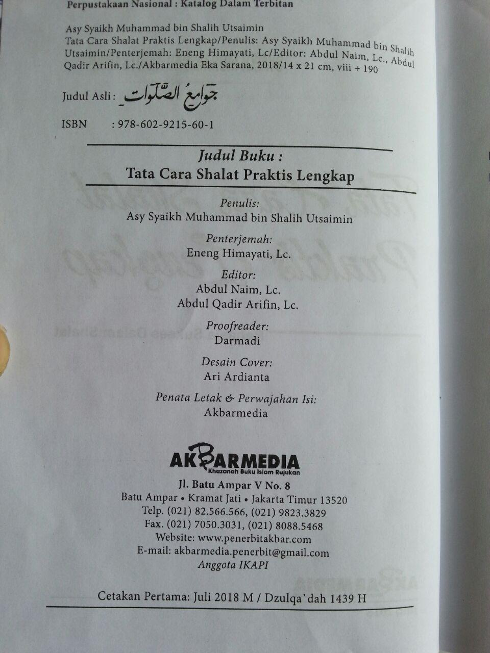 Buku Tata Cara Shalat Praktis Rahasia Sukses Dalam Shalat isi