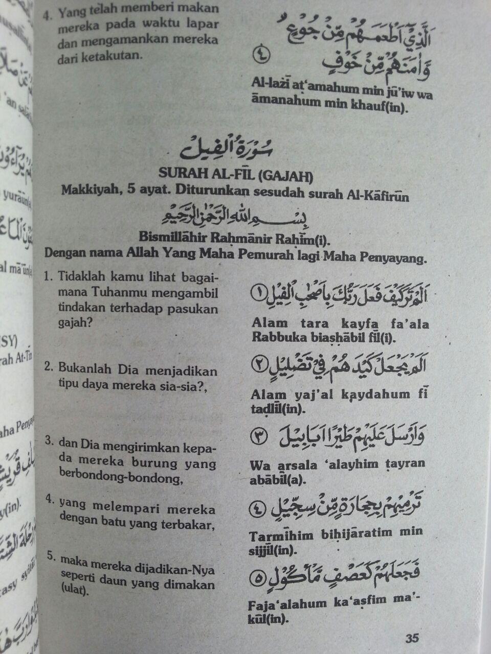 Buku Terjemah Juz Amma Pedoman Baca Quran Transliterasi isi 3