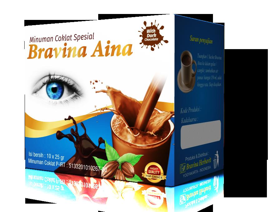 Minuman Coklat Spesial Bravina Aina Pack Isi 10 Sachet