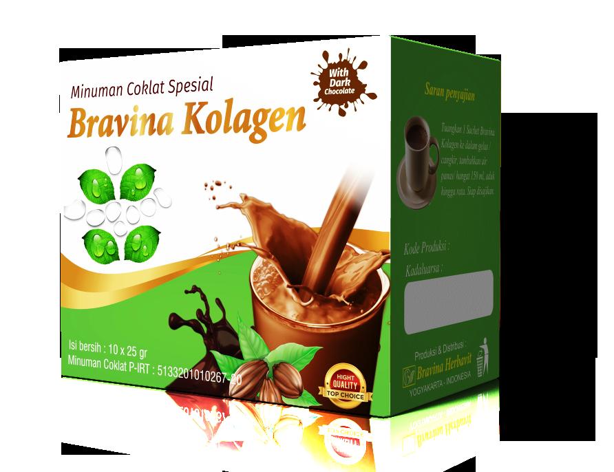 Minuman Coklat Spesial Bravina Kolagen Pack Isi 10 Sachet