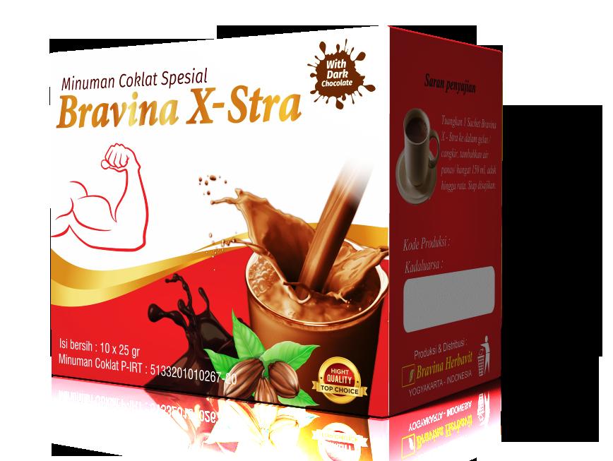 Minuman Coklat Spesial Bravina X-Stra Pack Isi 10 Sachet cover