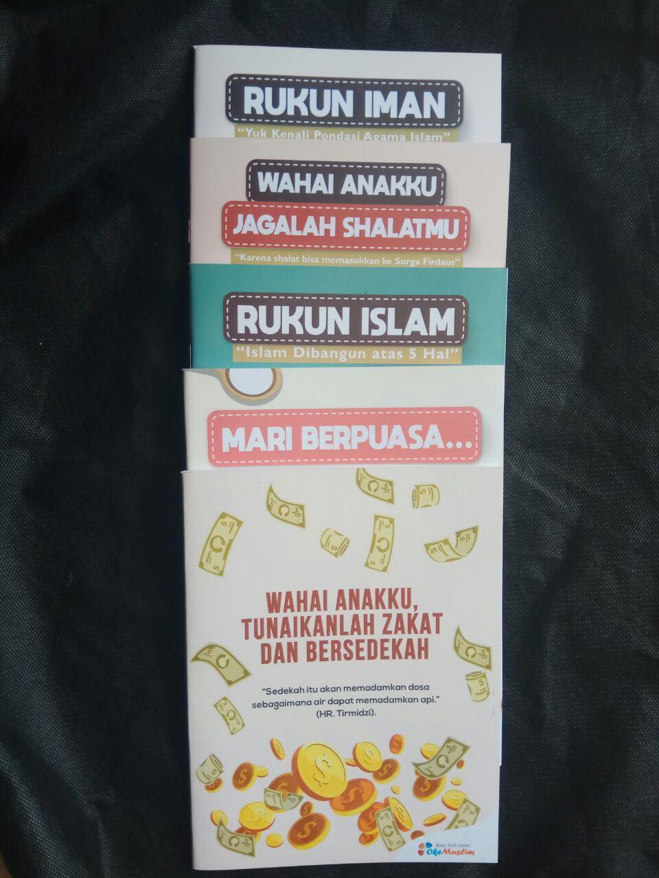 Paket Buku Tulis Islami Anak Pack 10 Buku 5 Cover Tema Rukun Iman Islam cover 2
