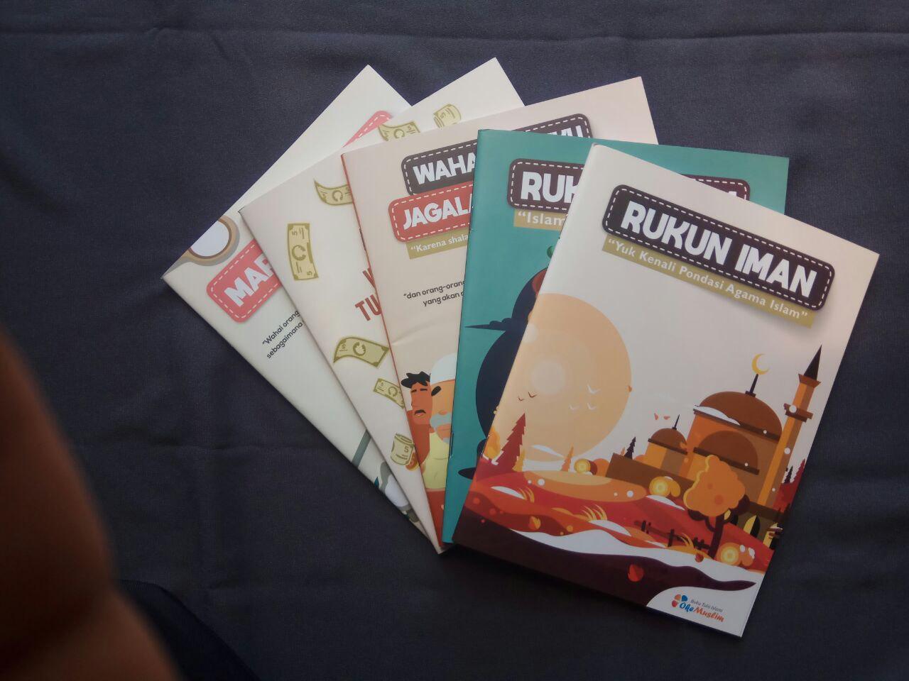 Paket Buku Tulis Islami Anak Pack 10 Buku 5 Cover Tema Rukun Iman Islam cover