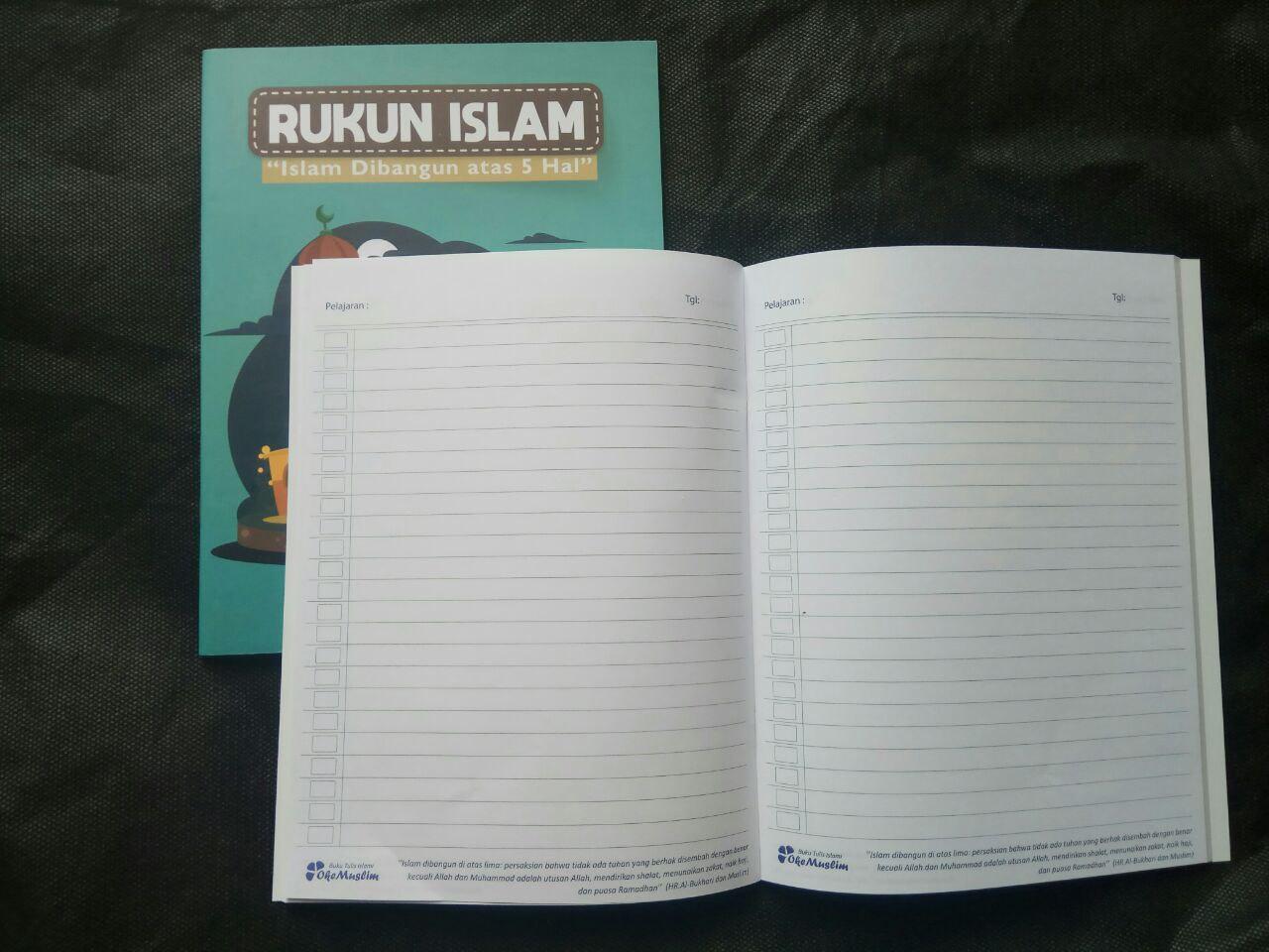 Paket Buku Tulis Islami Anak Pack 10 Buku 5 Cover Tema Rukun Iman Islam isi 3