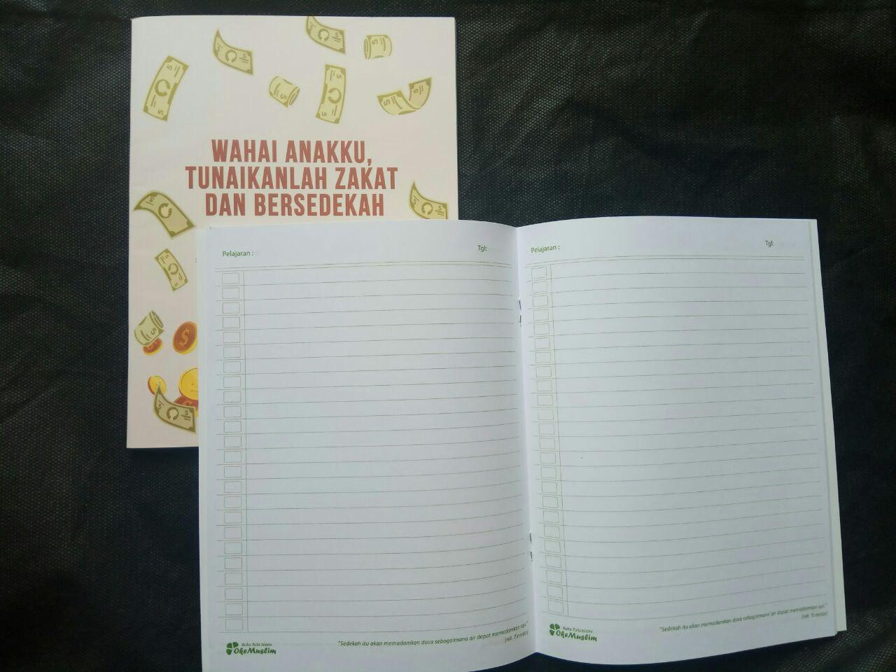 Paket Buku Tulis Islami Anak Pack 10 Buku 5 Cover Tema Rukun Iman Islam isi 4
