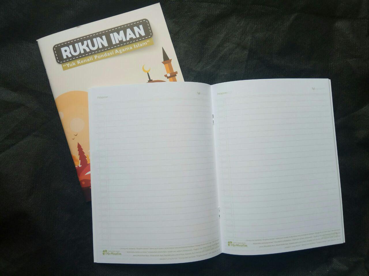 Paket Buku Tulis Islami Anak Pack 10 Buku 5 Cover Tema Rukun Iman Islam isi 6