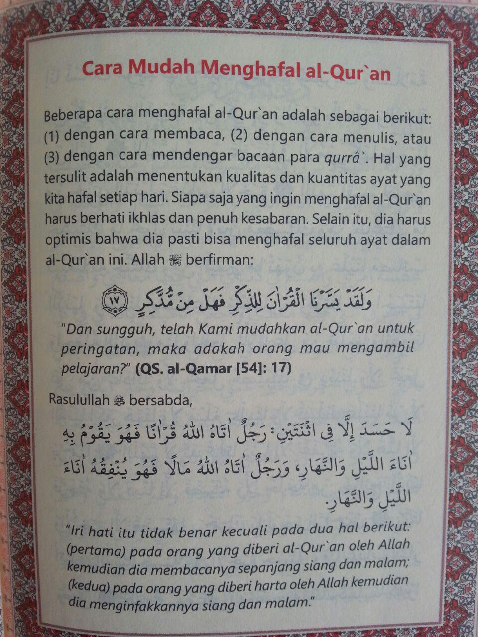 Qur'an Hafalan Tanpa Terjemah Ukuran A6 isi 2