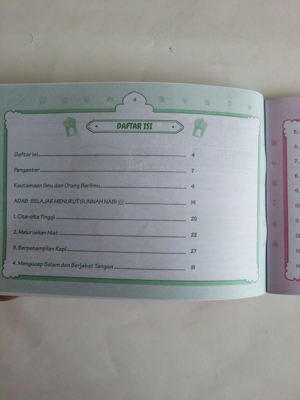 Buku Anak Adab Belajar Menurut Sunnah Nabi isi