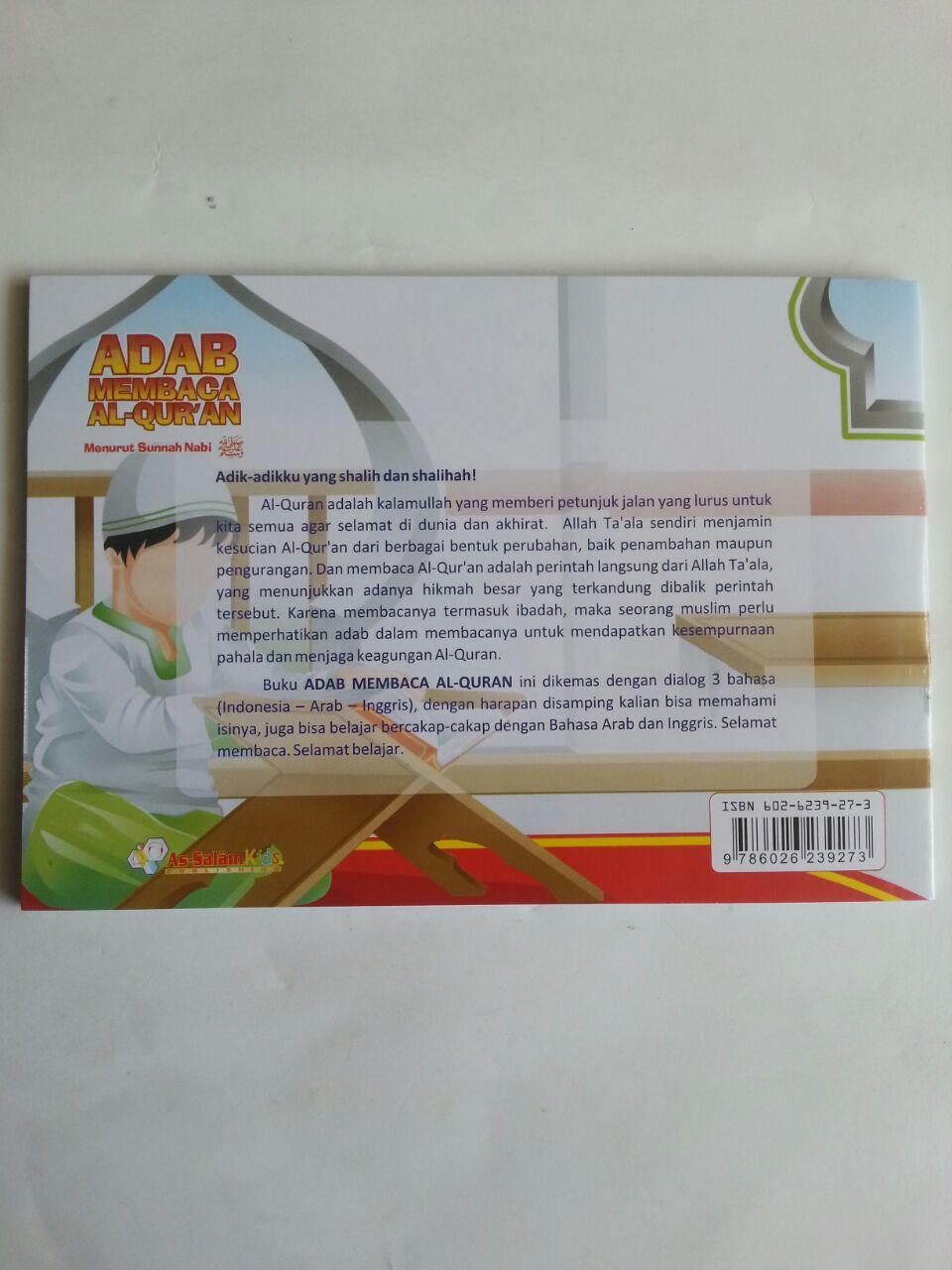 Buku Anak Adab Membaca Al-Qur'an menurut Sunnah Nabi cover