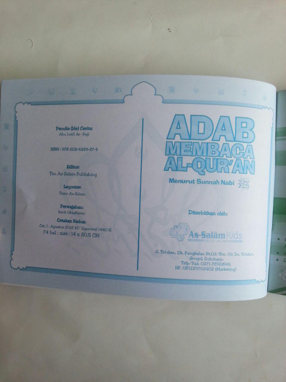 Buku Anak Adab Membaca Al-Qur'an menurut Sunnah Nabi isi 2