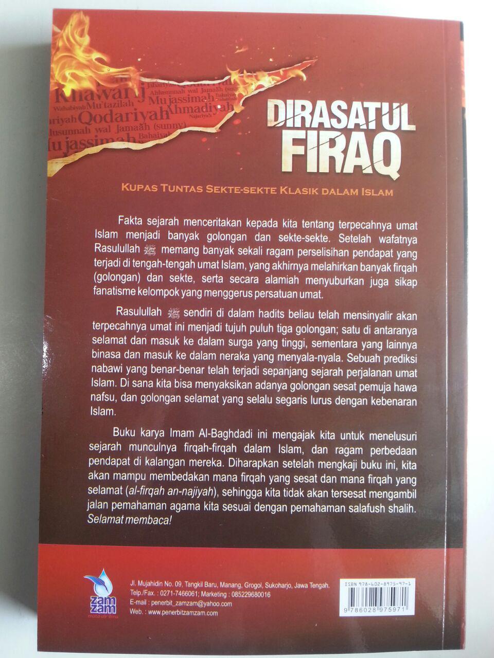 Buku Dirasatul Firaq Kupas Tuntas Sekte-Sekte Klasik Dalam islam cover