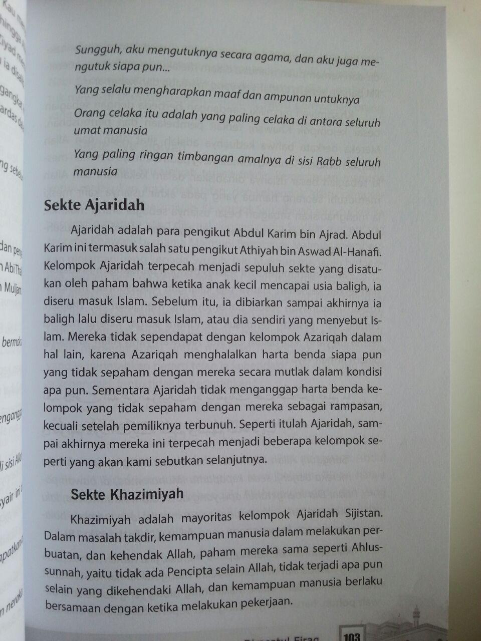 Buku Dirasatul Firaq Kupas Tuntas Sekte-Sekte Klasik Dalam islam isi 3