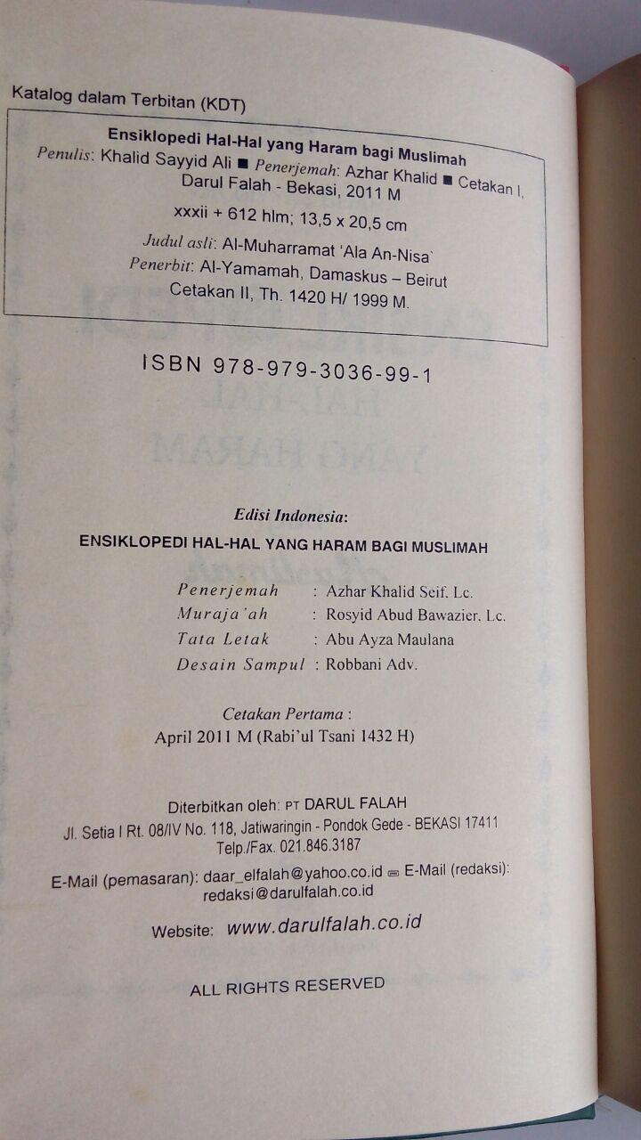 Buku Ensiklopedi Hal-Hal Yang Haram Bagi Muslimah isi 3