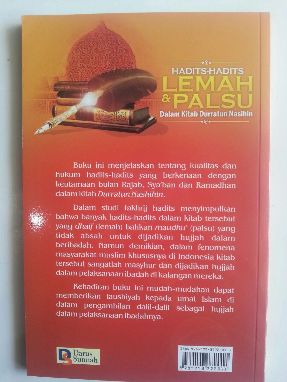 Buku Hadits-Hadits Lemah Dan Palsu Dalam Kitab Durratun Nasihin cover