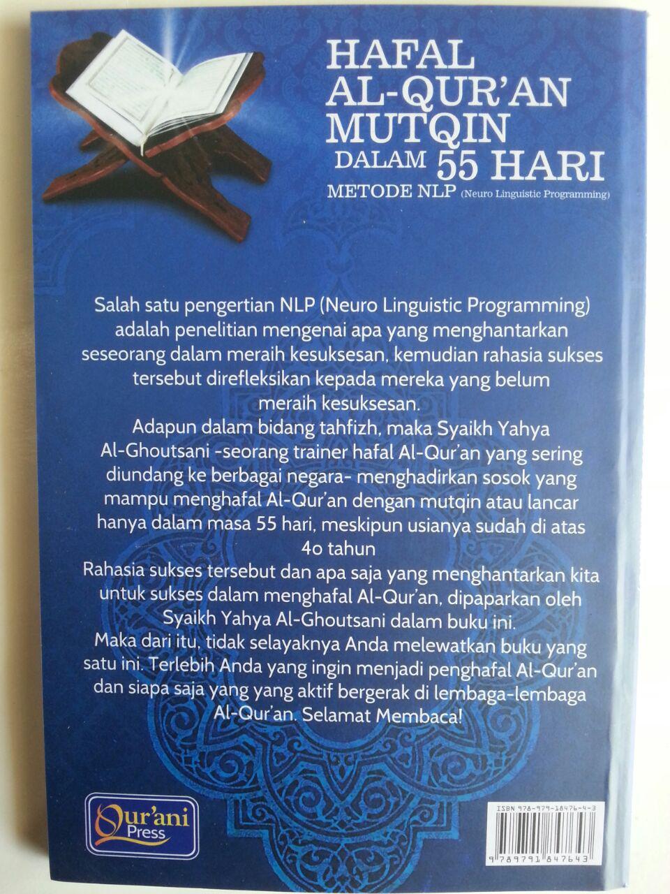 Buku Hafal Al-Qur'an Mutqin Dalam 55 Hari Metode LNP cover