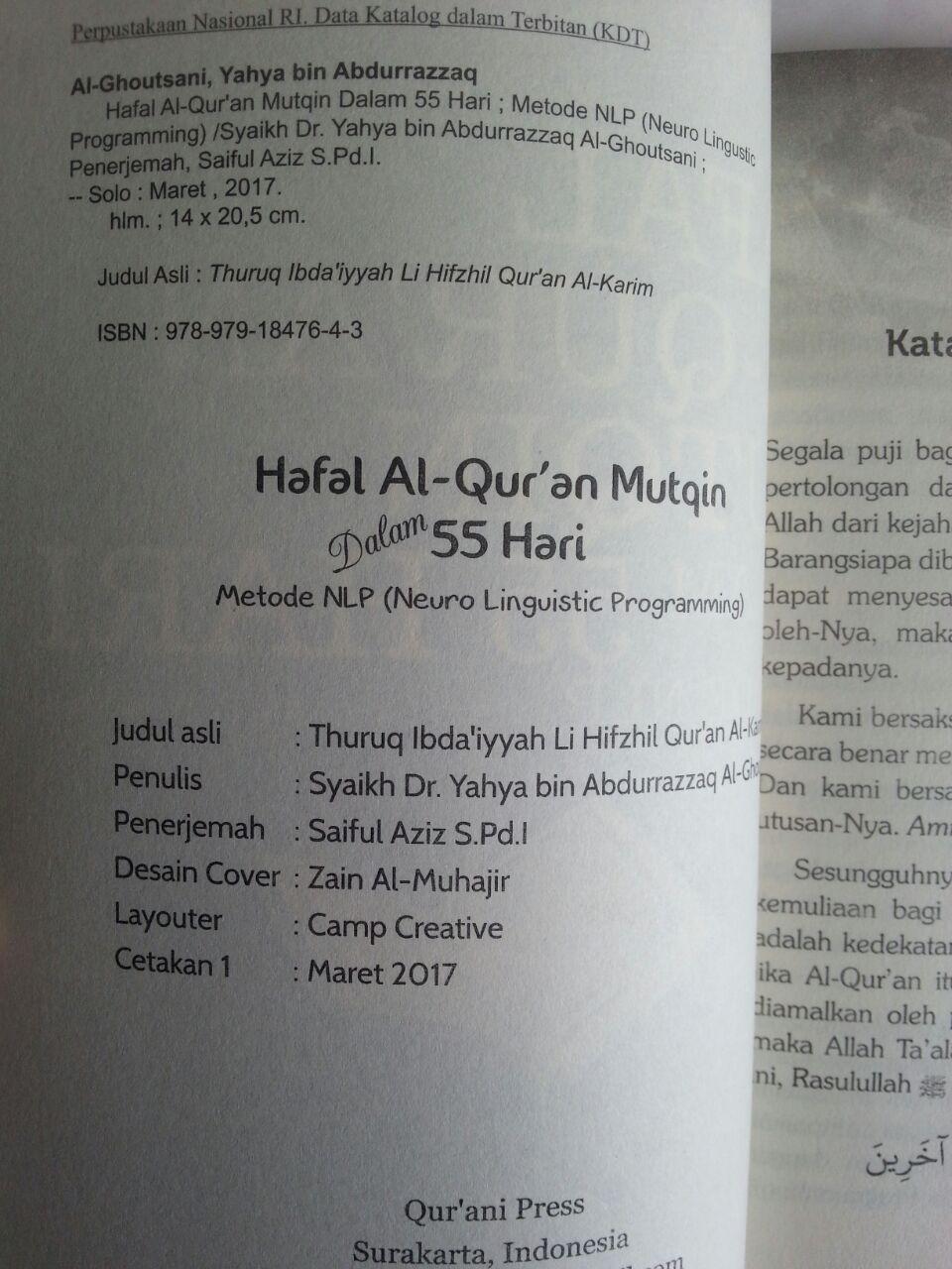 Buku Hafal Al-Qur'an Mutqin Dalam 55 Hari Metode LNP isi
