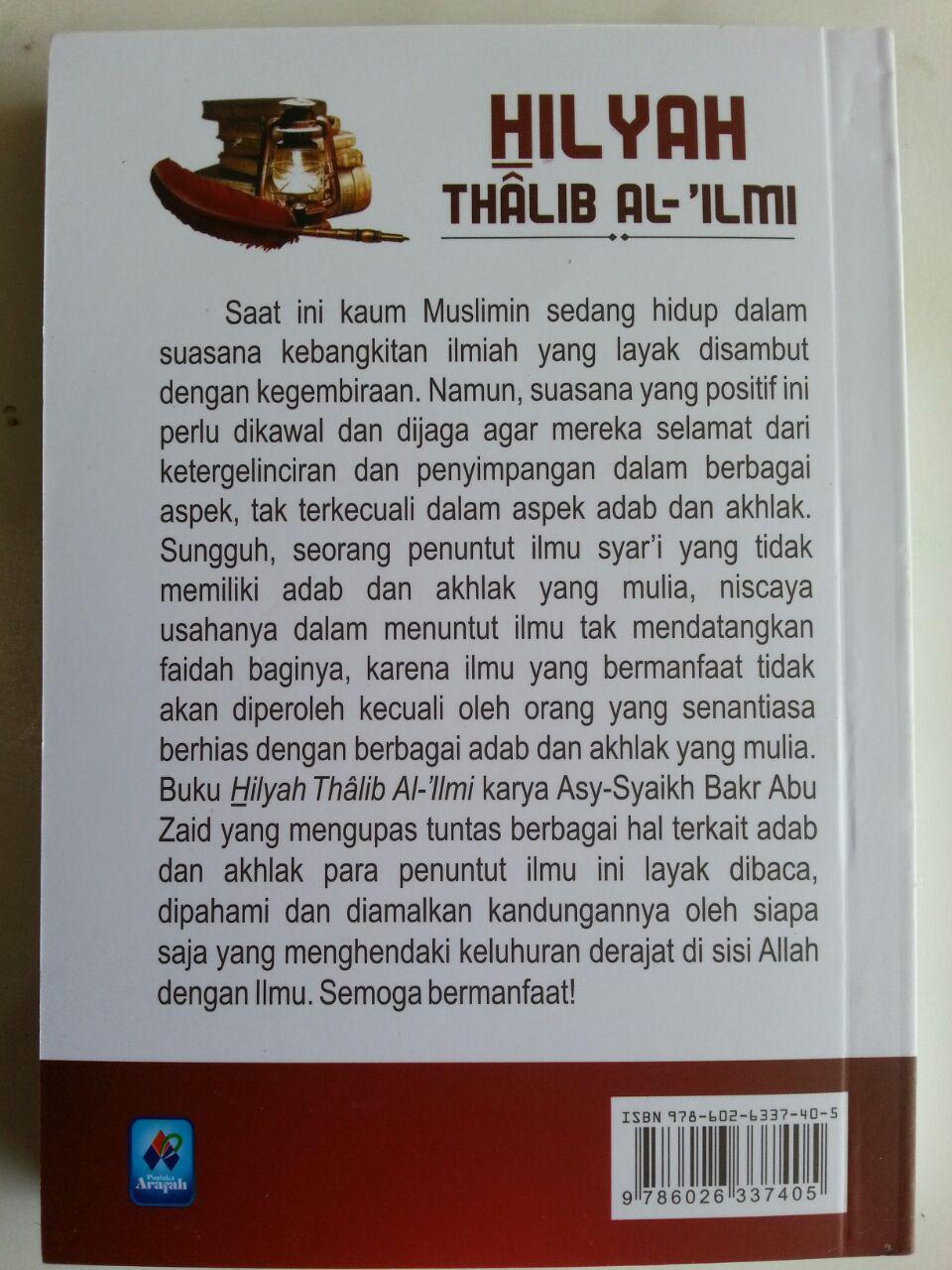 Buku Hilyah Thalib Al-Ilmi Pedoman Adab Akhlak Penuntut Ilmu cover