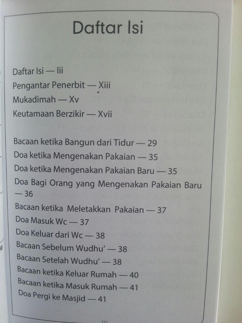 Buku Hishnul Muslim Doa Dan Zikir Sehari-Hari Dari Quran Sunnah isi 2