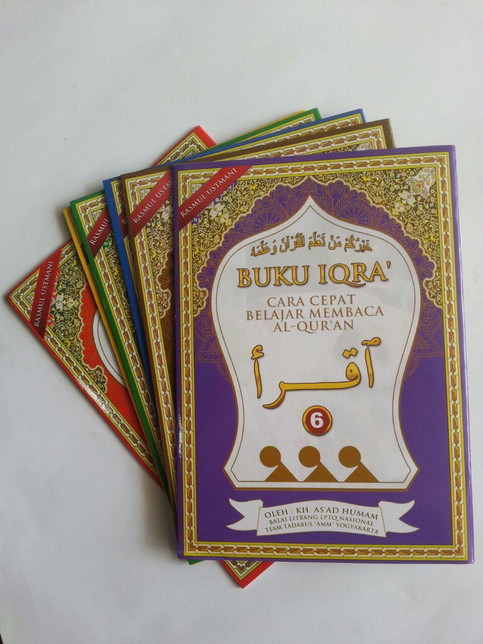 Buku Iqro Cara Cepat Belajar Membaca Qur'an Rasmul Utsmani A5 Set cover 2