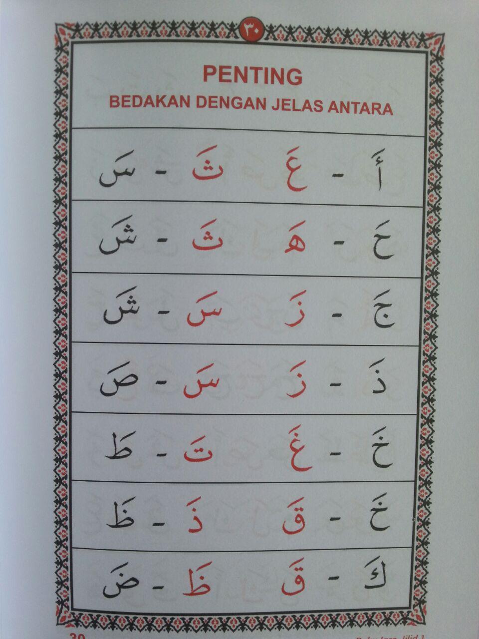 Buku Iqro Cara Cepat Belajar Membaca Qur'an Rasmul Utsmani A5 Set isi 2