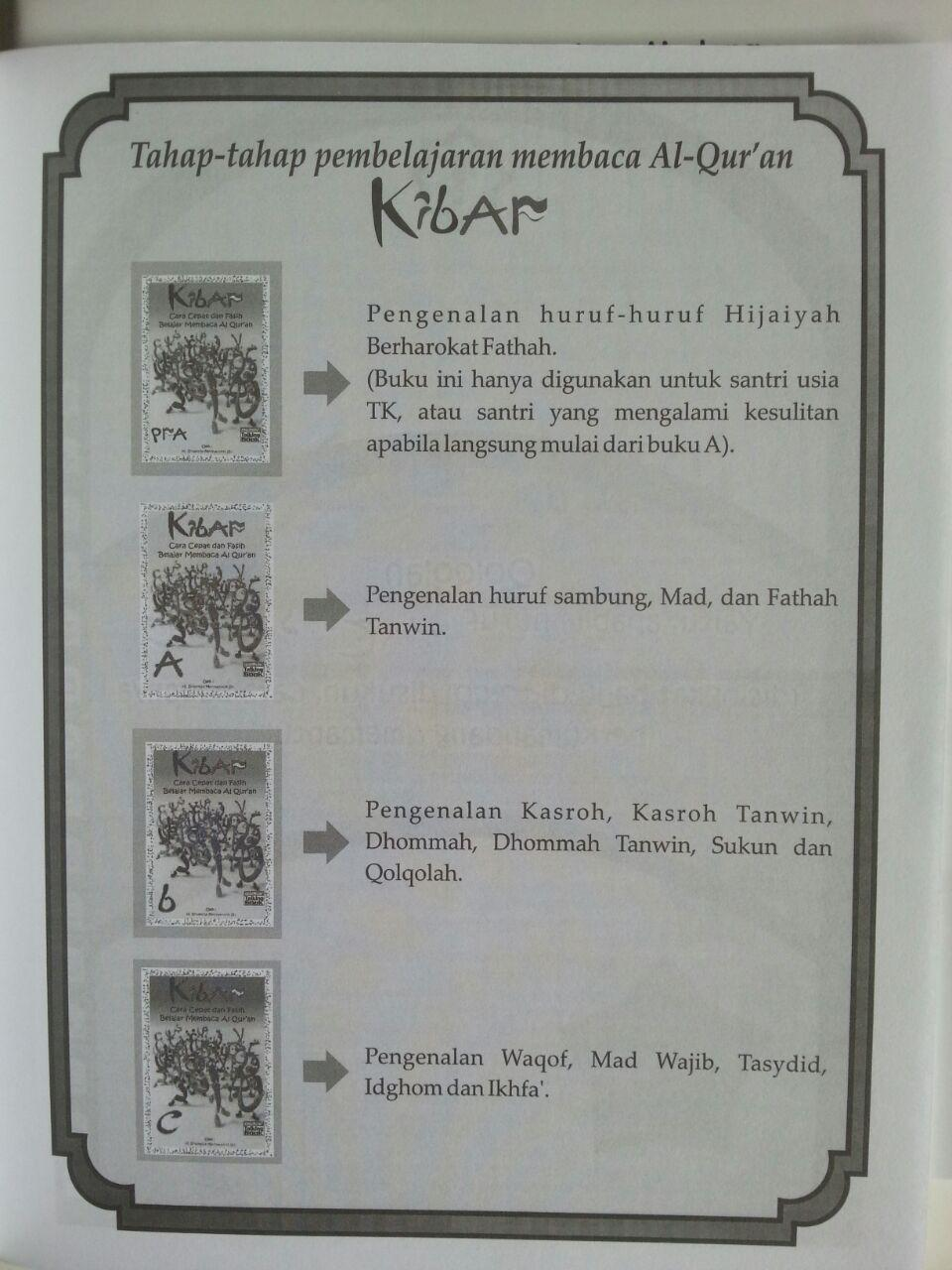 Buku Kibar Cara Cepat Dan Fasih Belajar Membaca Al-Qur'an A5 Set isi 2