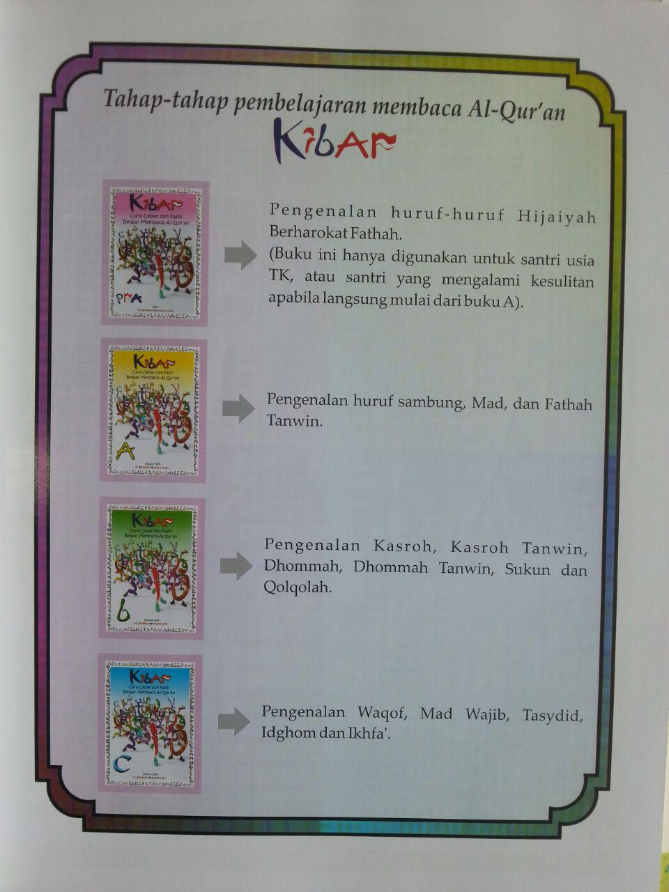 Buku Kibar Cara Cepat Dan Fasih Belajar Membaca Al-Qur'an Full Colour B5 isi