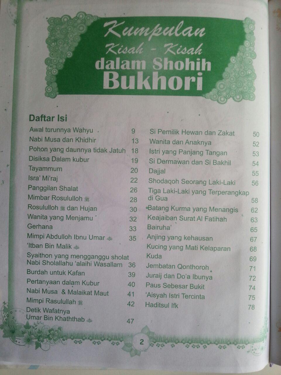 Buku Kumpulan Kisah Dalam Shohih Bukhori isi 2