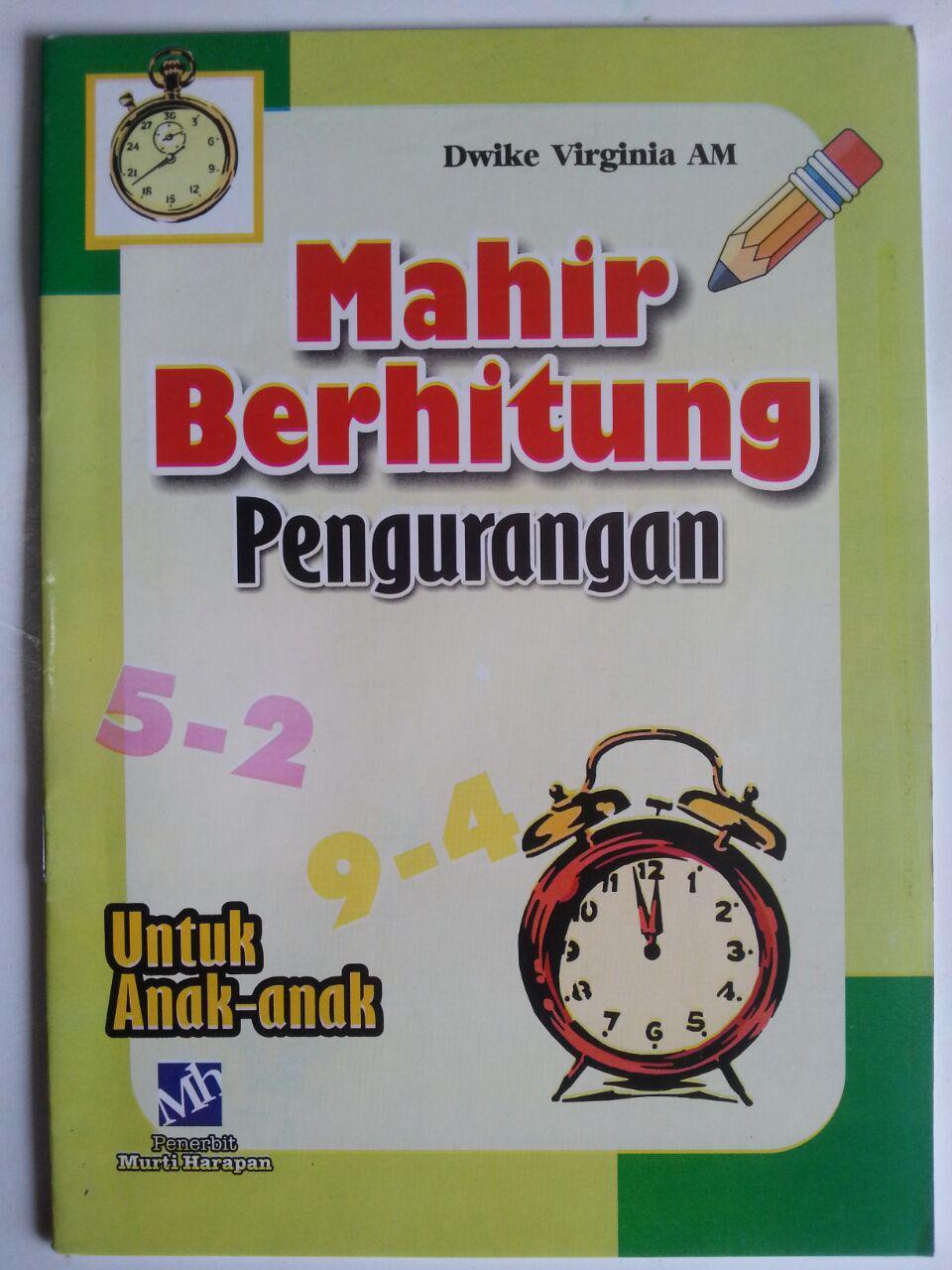 Buku Mahir Berhitung Pengurangan Untuk Anak-Anak cover 2
