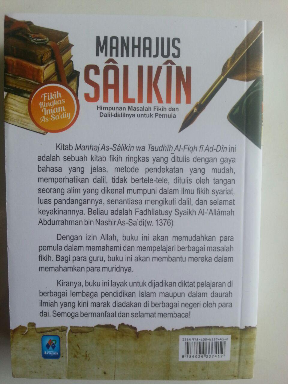 Buku Manhajus Salikin Himpunan Masalah Fikih Dan Dalilnya Untuk Pemula cover