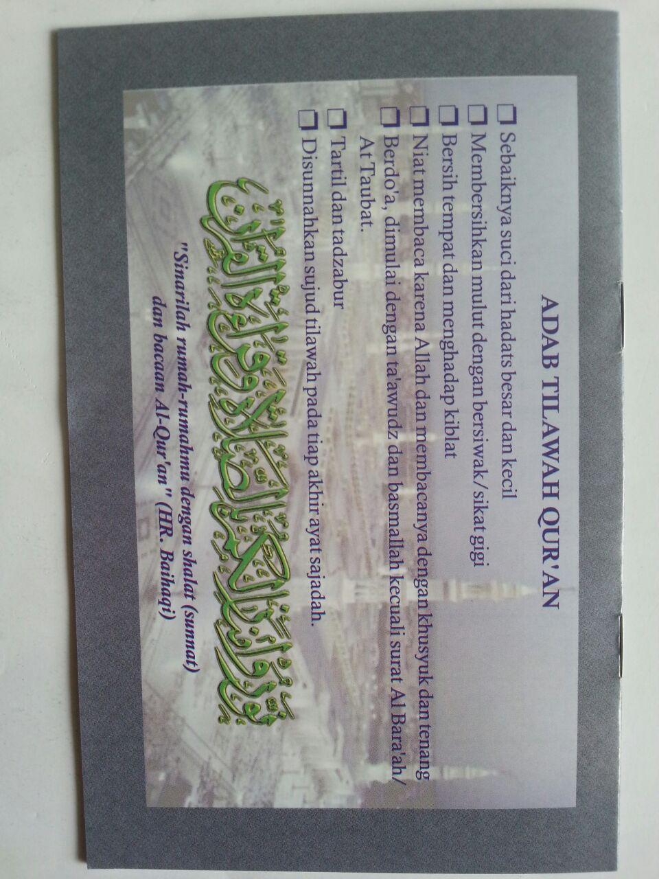 Buku Pegangan Santri Qiroatil Qur'an cover