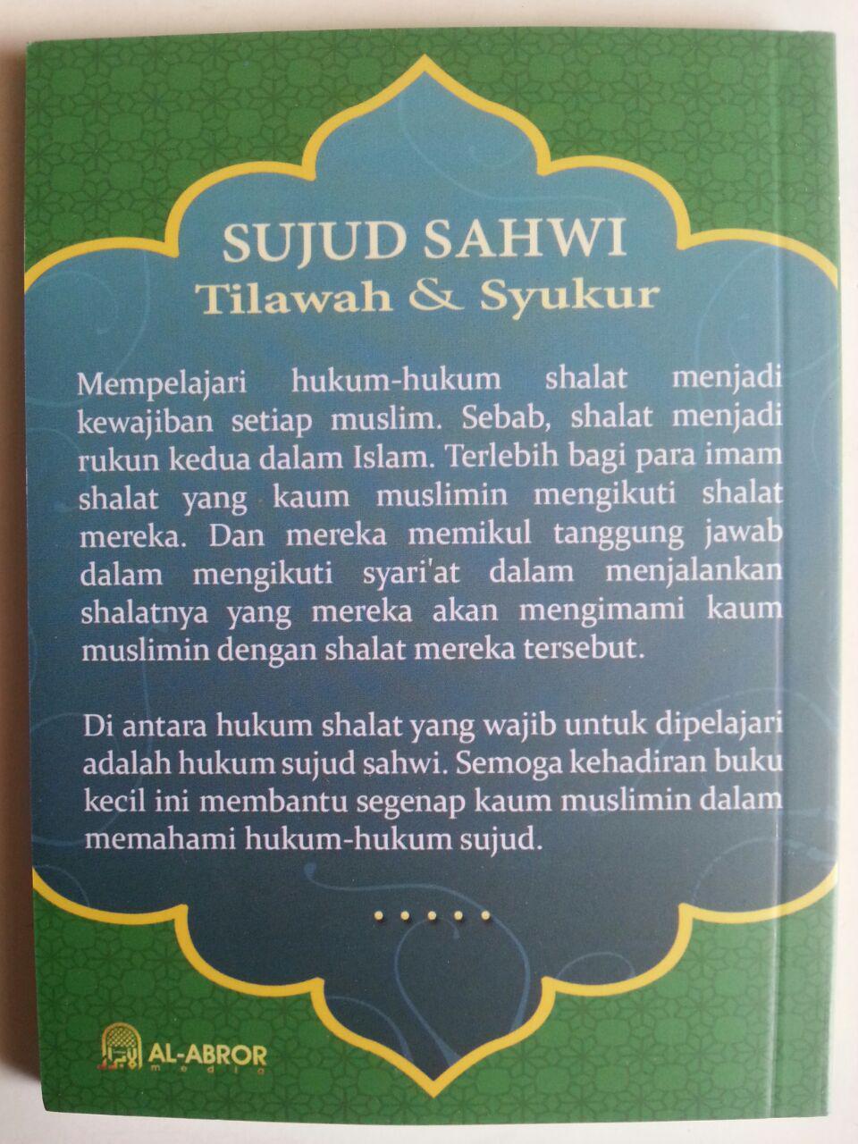 Buku Penjelasan Tentang Sujud Sahwi Tilawah Dan Syukur cover