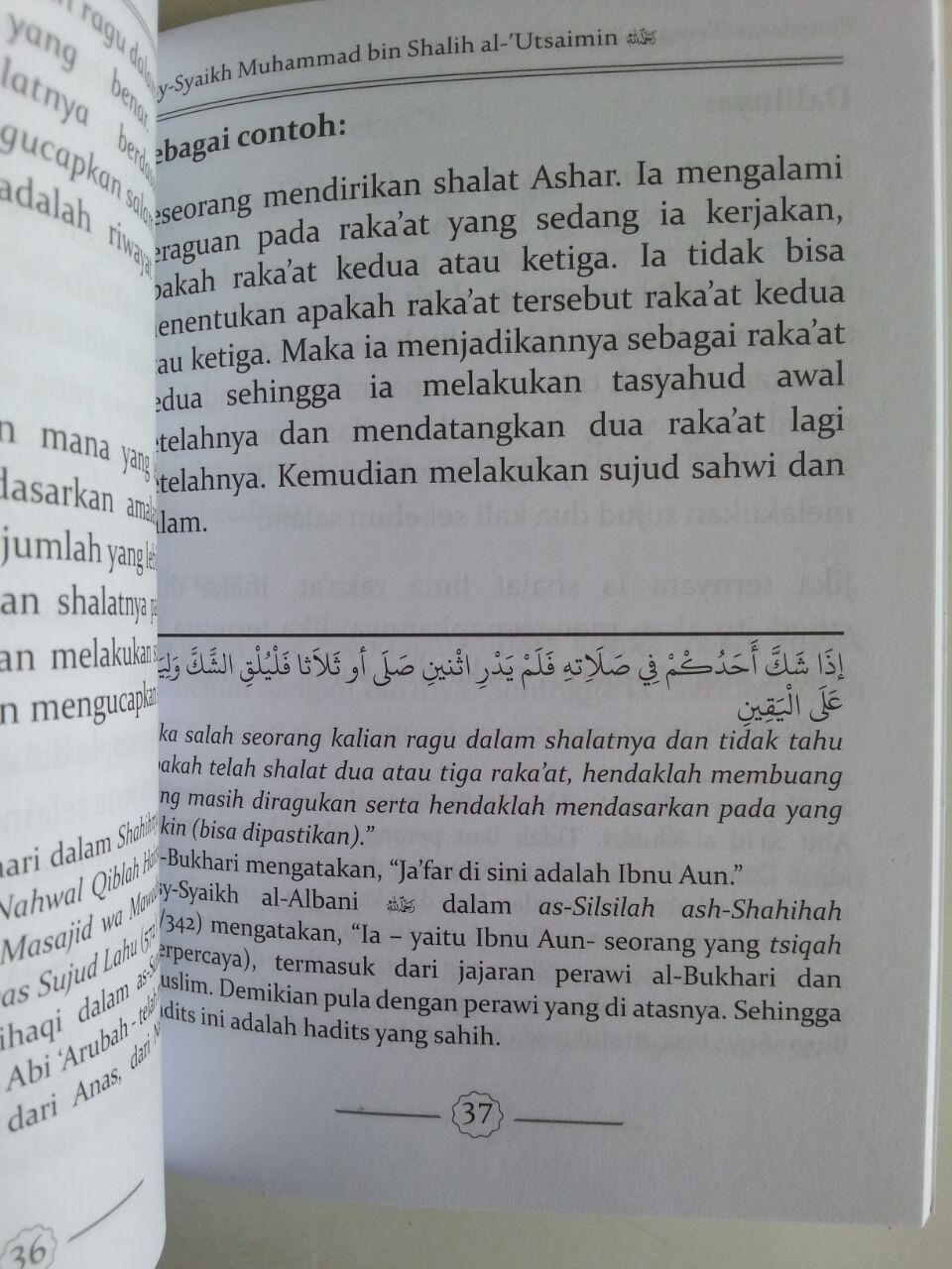 Buku Penjelasan Tentang Sujud Sahwi Tilawah Dan Syukur isi 2