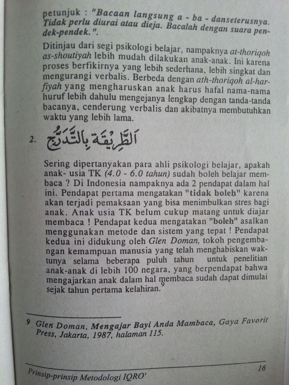 Buku Prinsip-Prinsip Metodologi Buku Iqro Cara Cepat Belajar Membaca Al-Quran isi 2