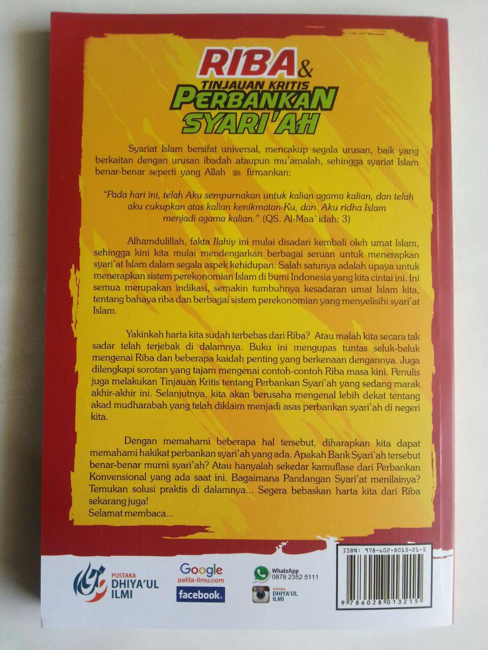 Buku Riba Dan Tinjauan Kritis Perbankan Syariah Penjelasan Riba cover